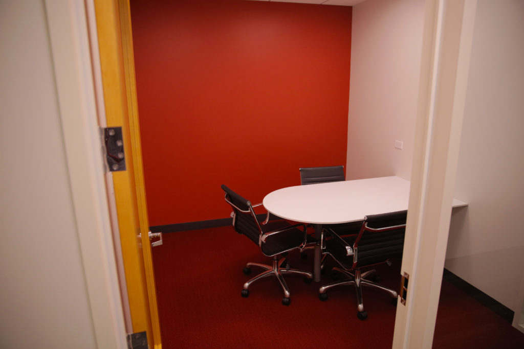 Commercial Painting, Office Space Paint, Accent Wall Paint, Red Wall, Meeting room Paint, Elson Inc., Bay Area CA