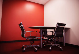 Commercial Painting, Office Space Paint, Accent Wall Paint, Red Wall,  Meeting Room